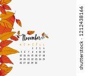 november calendar 2018 ...   Shutterstock .eps vector #1212438166