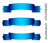 set of three ribbon banners.... | Shutterstock .eps vector #1212438283