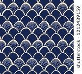 indigo hand drawn japanese... | Shutterstock .eps vector #1212439159