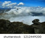 view from mountain range to the ... | Shutterstock . vector #1212449200