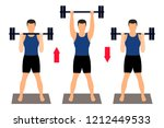 male athlete in sportswear... | Shutterstock .eps vector #1212449533