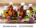 essential oils. clover and... | Shutterstock . vector #1212449680