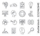 problem solution icon set.... | Shutterstock . vector #1212462640