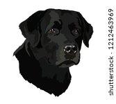 head of a labrador. vector... | Shutterstock .eps vector #1212463969