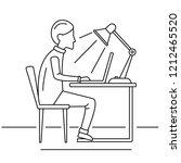 man freelancer notebook concept ... | Shutterstock . vector #1212465520