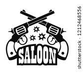 saloon pistol logo. simple...   Shutterstock . vector #1212468556