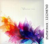 abstract background with... | Shutterstock .eps vector #121248760