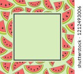 template of a card for summer... | Shutterstock .eps vector #1212493006