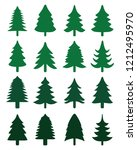 green christmas trees on a... | Shutterstock .eps vector #1212495970