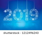 happy new year 2019 greeting... | Shutterstock .eps vector #1212496243