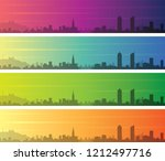 lyon multiple color gradient...   Shutterstock .eps vector #1212497716