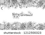 christmas background realistic... | Shutterstock .eps vector #1212500323