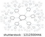 network with speech bubbles.... | Shutterstock .eps vector #1212500446