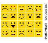 yellow cartoon bubble emoticons ... | Shutterstock .eps vector #1212501133