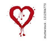 vector heart shape frame with... | Shutterstock .eps vector #1212506773