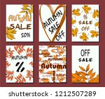 autumn sale card  illustration. ... | Shutterstock .eps vector #1212507289