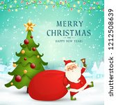 merry christmas. happy new year.... | Shutterstock .eps vector #1212508639