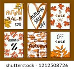 autumn sale card  illustration. ... | Shutterstock .eps vector #1212508726