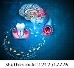 complications of gum disease... | Shutterstock .eps vector #1212517726