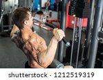 shoulder pull down machine.... | Shutterstock . vector #1212519319