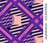 seamless pop art pattern.... | Shutterstock .eps vector #1212524326