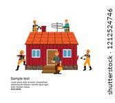 home repairs. home improvement... | Shutterstock .eps vector #1212524746