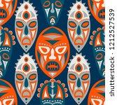 seamless pattern. tribal... | Shutterstock .eps vector #1212527539