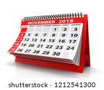 november 2018 calendar.... | Shutterstock . vector #1212541300