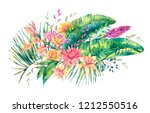 exotic natural vintage... | Shutterstock . vector #1212550516
