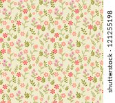 seamless floral pattern   Shutterstock . vector #121255198