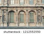 classic vintage building facade.... | Shutterstock . vector #1212552550