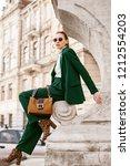 outdoor full body fashion... | Shutterstock . vector #1212554203