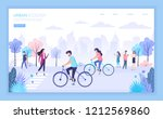 urban ecology city street... | Shutterstock .eps vector #1212569860