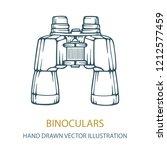 binocular. binocular hand... | Shutterstock .eps vector #1212577459