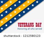 veterans day 11th of november.... | Shutterstock .eps vector #1212580123