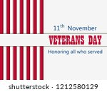 happy veterans day 11th of... | Shutterstock .eps vector #1212580129