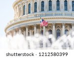 us congress dome closeup with...   Shutterstock . vector #1212580399