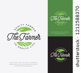 Green Farmer Logo Vector  Farm...