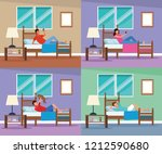 routines at home | Shutterstock .eps vector #1212590680