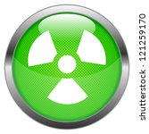 vector button radioactivity | Shutterstock .eps vector #121259170