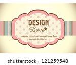 greeting card template design | Shutterstock .eps vector #121259548