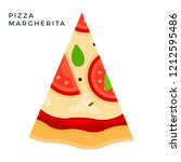 triangular piece of pizza... | Shutterstock .eps vector #1212595486