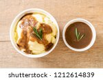 homemade mashed potatoes with... | Shutterstock . vector #1212614839