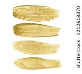 golden brush stroke frame  gold ... | Shutterstock .eps vector #1212618370