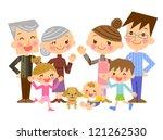 smiling family | Shutterstock . vector #121262530