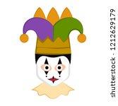 isolated man avatar with mardi... | Shutterstock .eps vector #1212629179