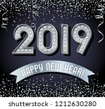 2019 happy new year design with ... | Shutterstock .eps vector #1212630280
