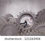 concept of business mechanism... | Shutterstock . vector #121263406