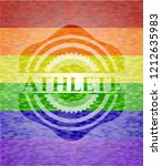 athlete emblem on mosaic...   Shutterstock .eps vector #1212635983