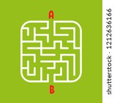 abstract square maze. easy... | Shutterstock .eps vector #1212636166